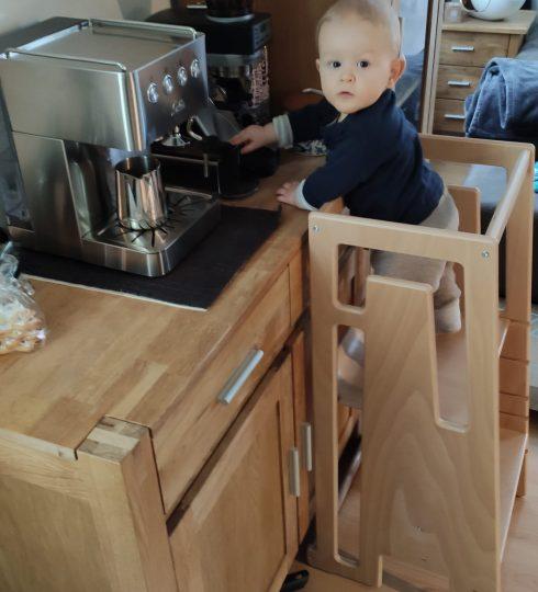 Kaffee zubereiten im Tuki Lernturm